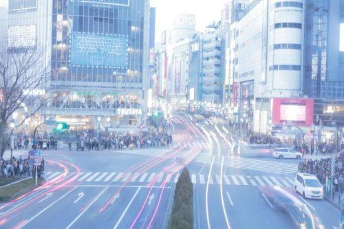 装飾・渋谷のスクランブル交差点